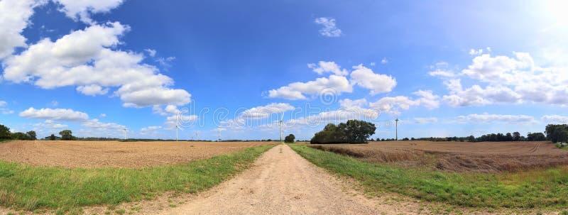 Beautiful high resolution summer landscape with fields, green grass and a stunning summer sky taken in northern germany. Beautiful high resolution summer stock images