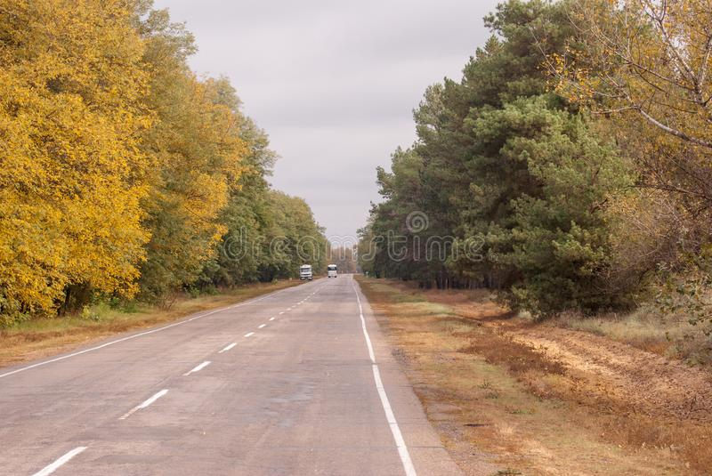 Autobahn, high-speed highway on the expanses of Ukraine royalty free stock images