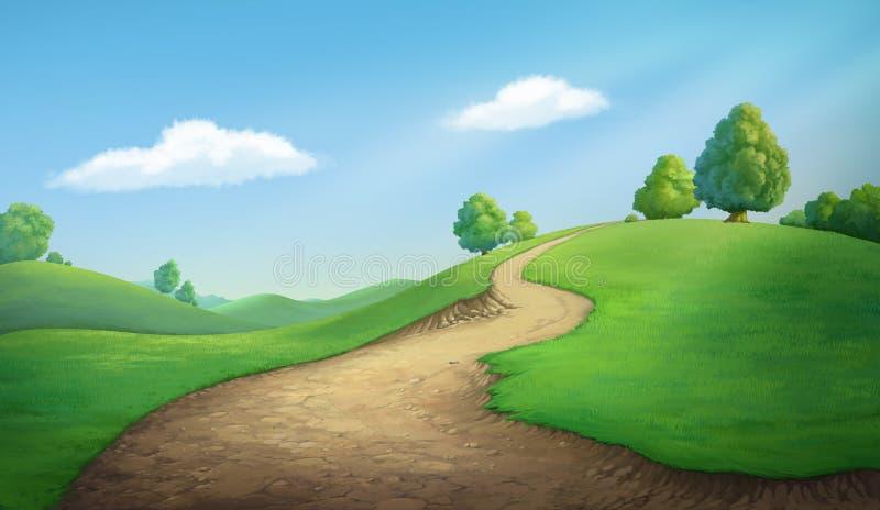 Beautiful hill royalty free illustration