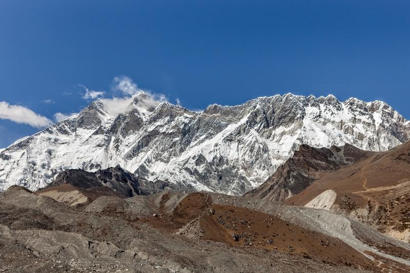 Beautiful Himalayan mountain range on a bright. Beautiful Himalayan mountain range on a bright sunny day. Comely photo royalty free stock image