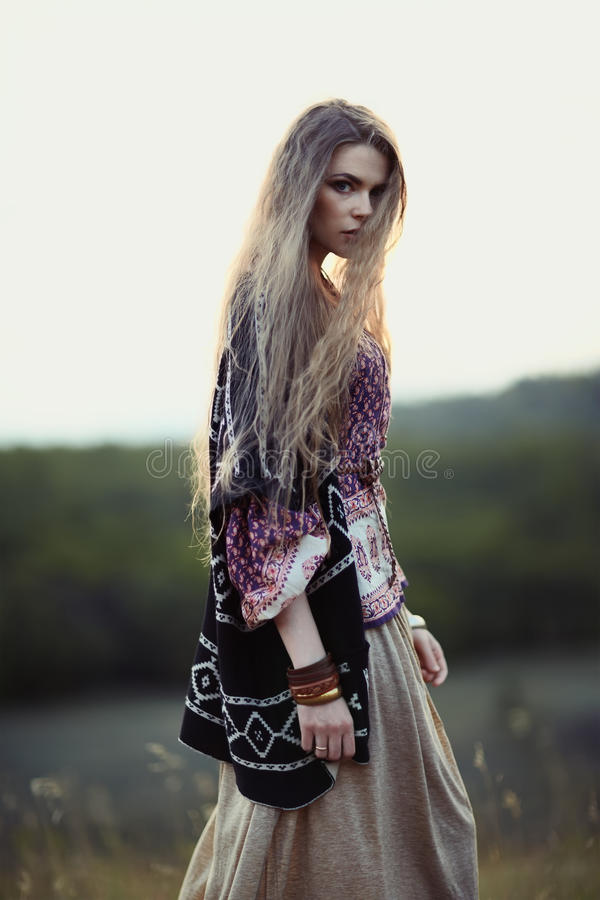 Free Beautiful Hippie Girl Stock Photo - 45372490