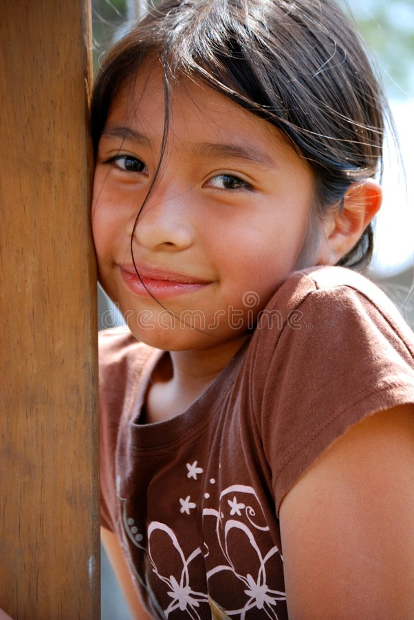 Beautiful Hispanic Girl Royalty Free Stock Photography