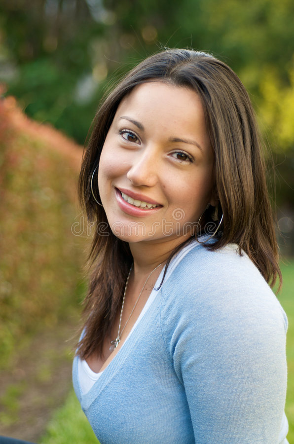 Download Beautiful Hispanic Student Girl Stock Image - Image: 9267729