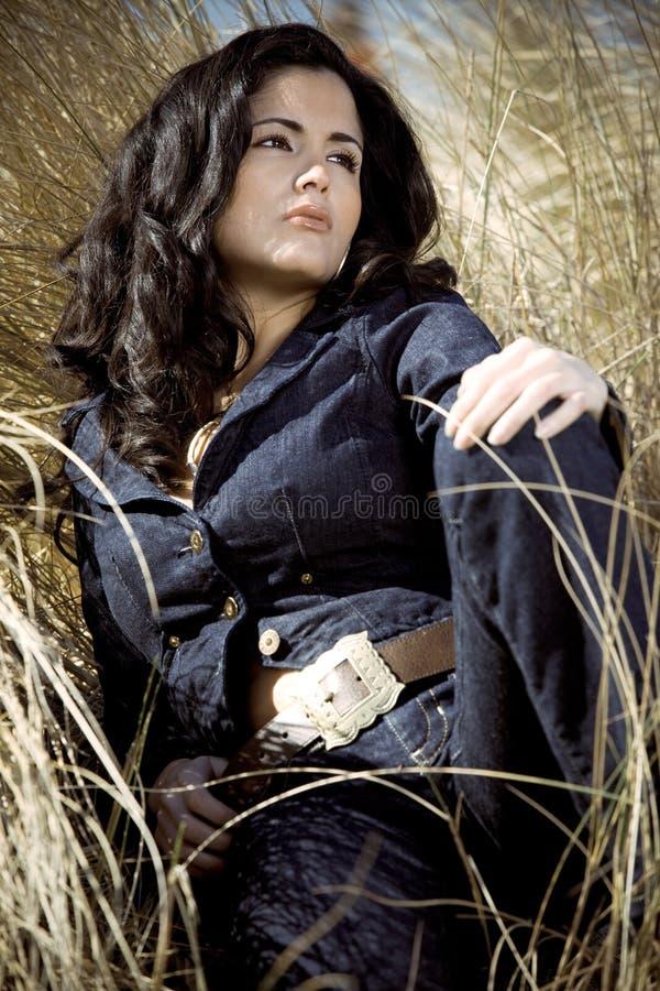 Beautiful Hispanic Woman Royalty Free Stock Photography