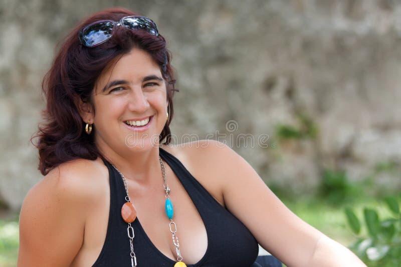 Beautiful hispanic woman royalty free stock photos