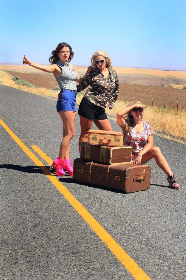 Download Beautiful Hitch Hikers stock image. Image of heels, danger - 32621945
