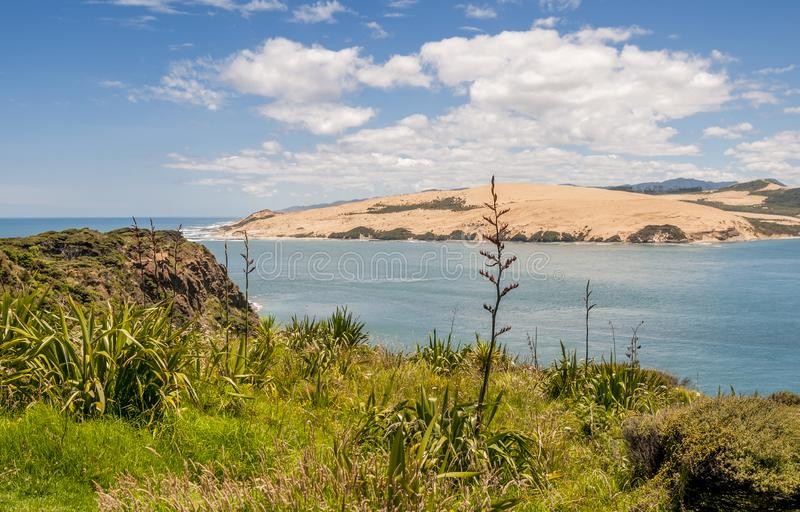 The Beautiful Hokianga Harbour from the Lookout Near Ompaere. The beautiful Hokianga Harbour in Northland region of New Zealand is a lovely holiday destination royalty free stock photography