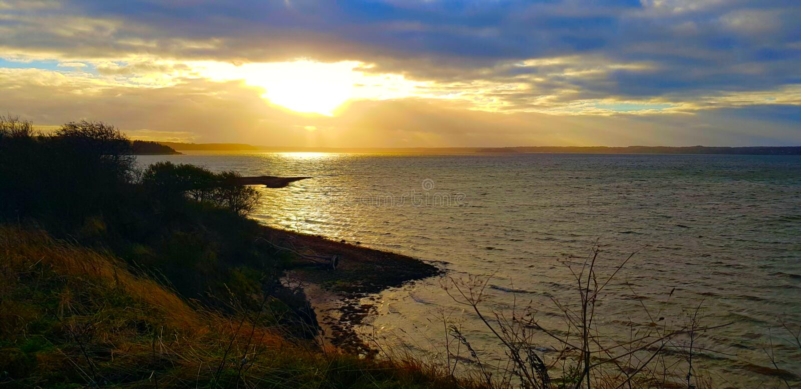 Landscape view with beautiful horizon royalty free stock photo