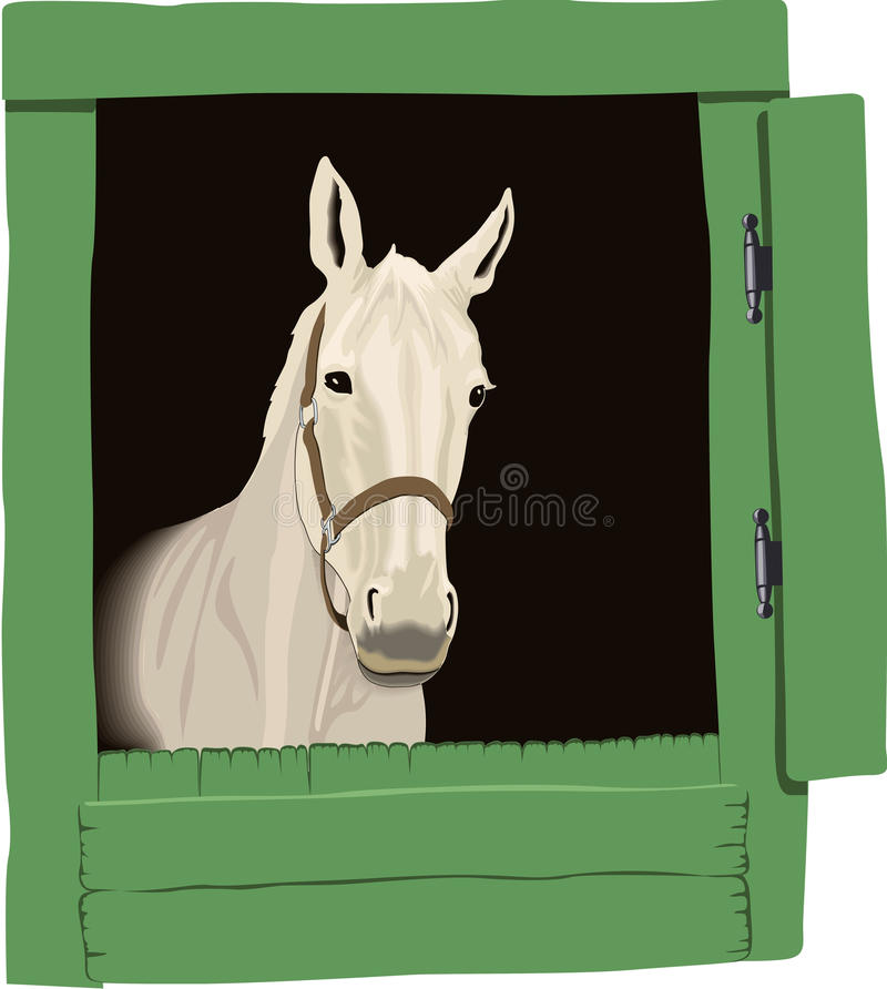 Download Beautiful Horse Drawing, Color Stock Vector - Image: 10109355