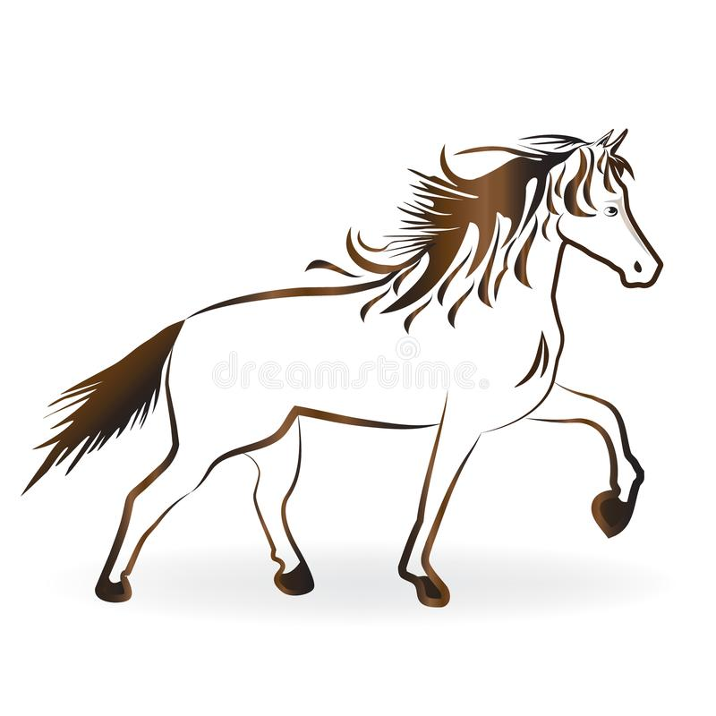 A beautiful horse vector royalty free illustration