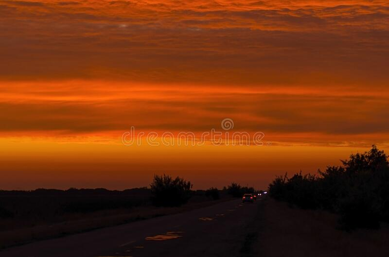 Beautiful hot sky in vibrant sunset colors.  stock photos