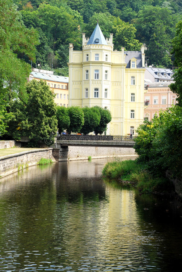 Download Beautiful House In Carlsbad (Karlovy Vary) Stock Photo - Image: 12687876