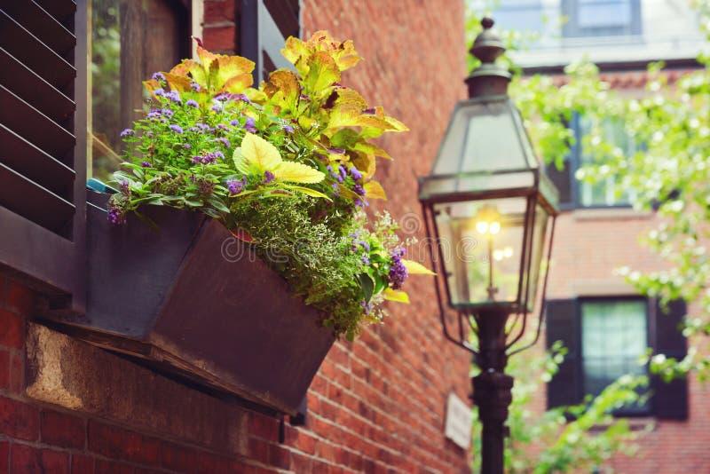 Beautiful house detail in Boston, Mass., USA. Beautiful house detail in Boston, Massachusetts, USA royalty free stock photos