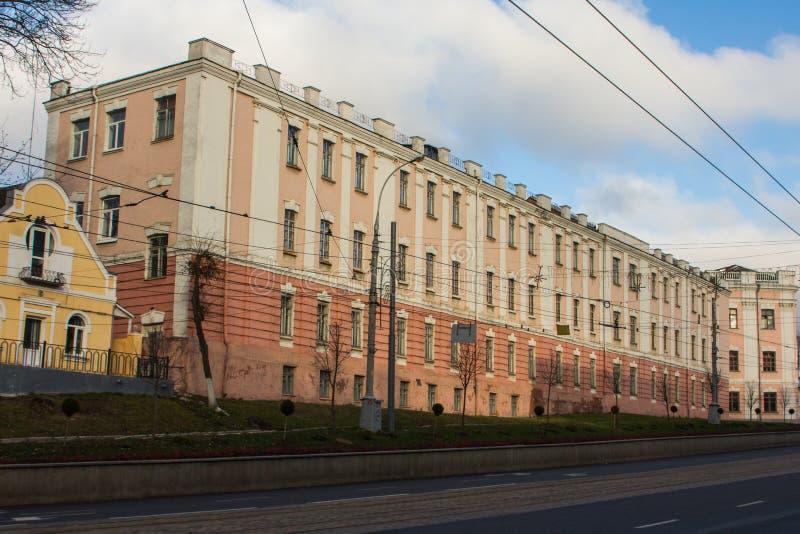 A beautiful house on the street of Vinnytsia. Ukraine.  royalty free stock images