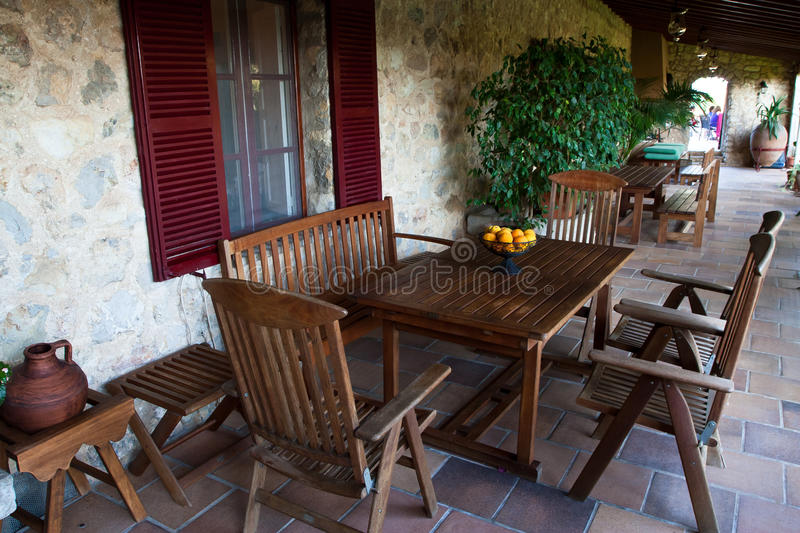Download Beautiful House Terrace stock image. Image of place, dinner - 20836109