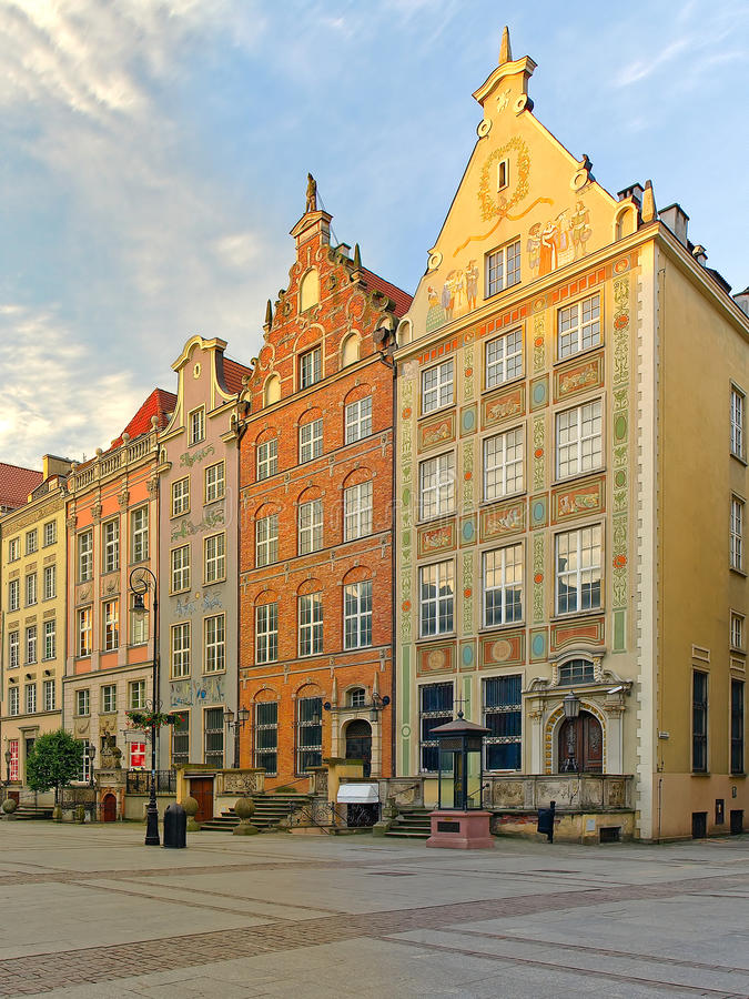 Download Beautiful houses in Gdansk stock image. Image of holiday - 11009775