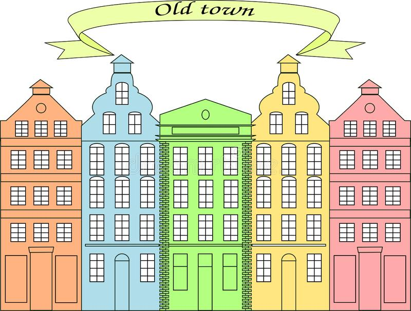 Beautiful houses in the old town 2 royalty free stock photo