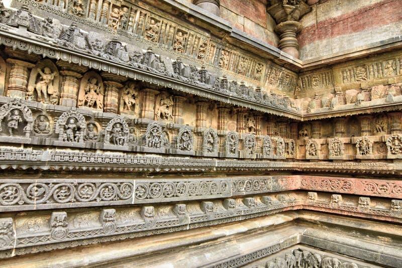 Beautiful Hoysala Architecture at the Chennakeshava Temple at Belur stock image