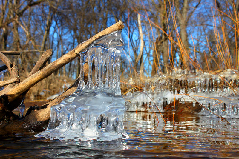 Beautiful Ice Formations Illinois royalty free stock images