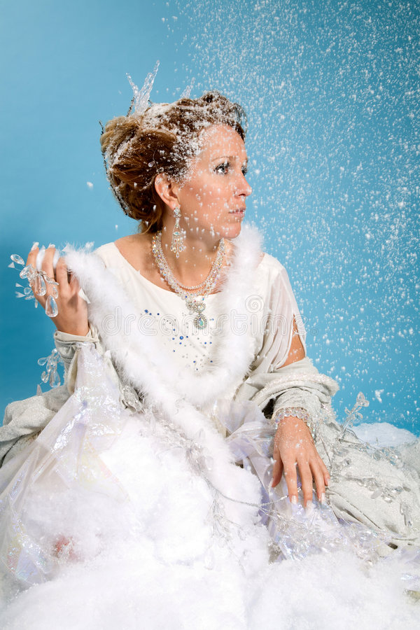 Beautiful Ice Queen Stock Photo