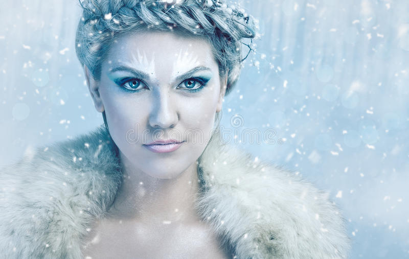 Beautiful ice queen stock photography