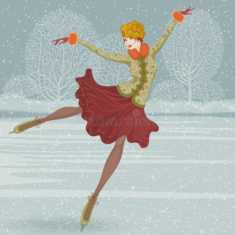 Beautiful Ice Skater Stock Images