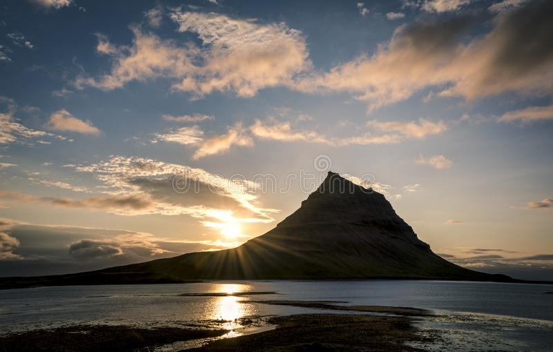 Sunset in Iceland royalty free stock photography