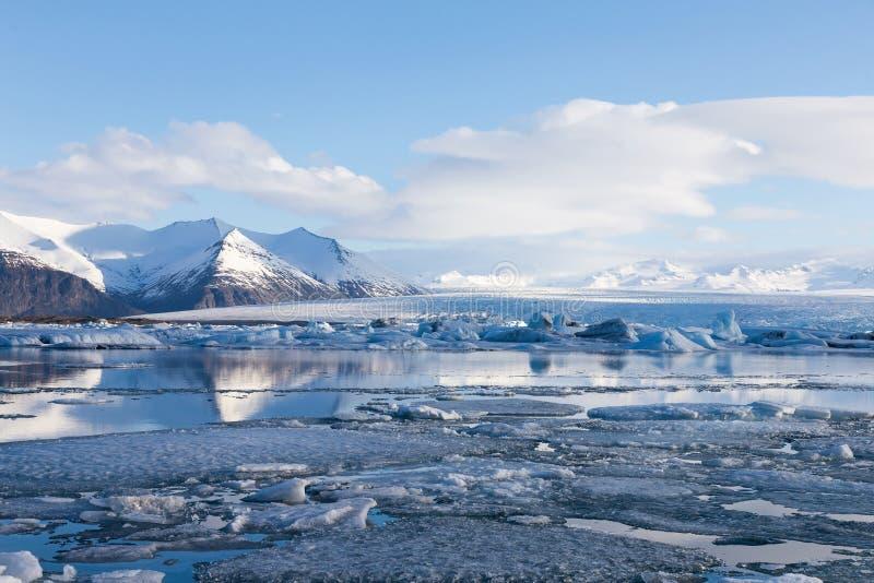 Beautiful Iceland winter season natural landscape. Skyline background royalty free stock photo