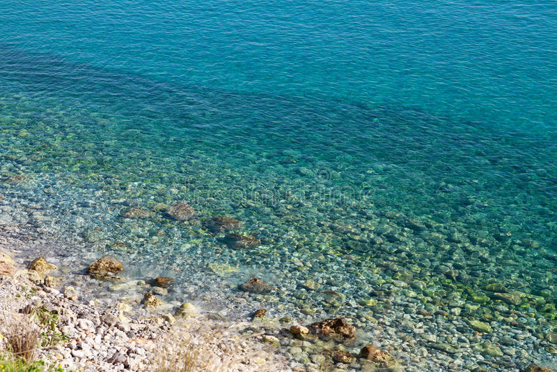 Beautiful Idyllic Turquoise Waters Shoreline Stock Photo