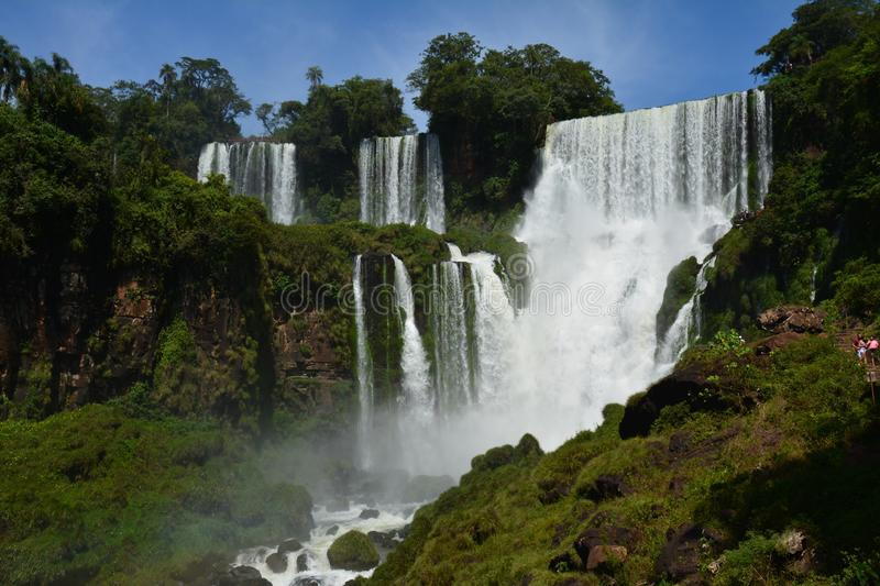Beautiful Iguazu Falls in Argentina South America royalty free stock photo