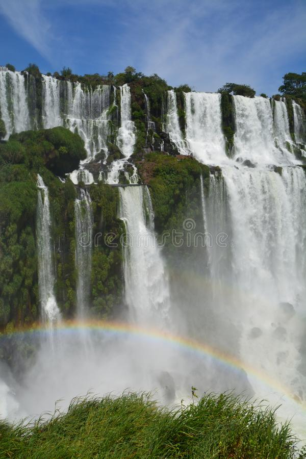 Beautiful Iguazu Falls in Argentina South America royalty free stock images