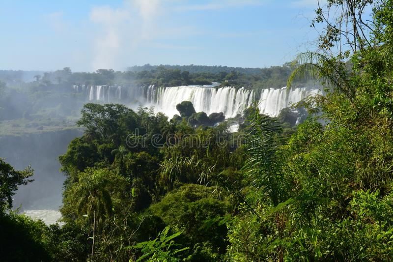 Beautiful Iguazu Falls in Argentina South America royalty free stock photography