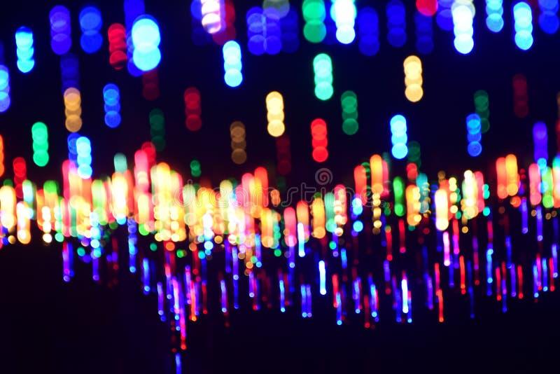 Abstract illuminated lights glow photograph. The beautiful illuminated party lights and glow abstract background photograph stock photography