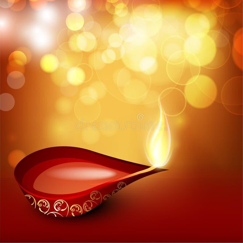 Download Beautiful Illuminating Diya Background Stock Vector - Image: 26645858