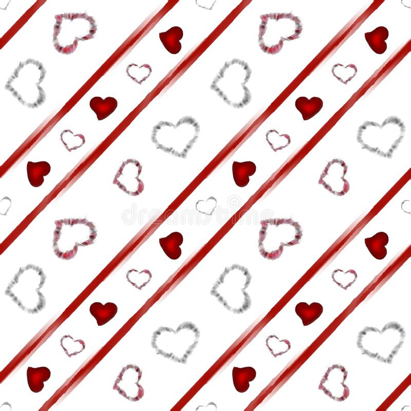 Background with hearts. Beautiful illustration of an abstract background with hearts on white background stock images