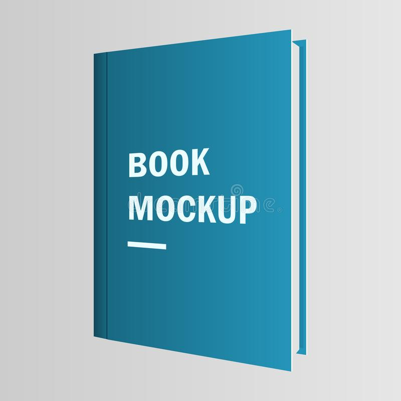 A beautiful illustration of book cover mockup vector design royalty free illustration