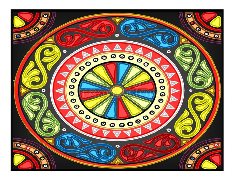 Beautiful illustration of colour royalty free illustration
