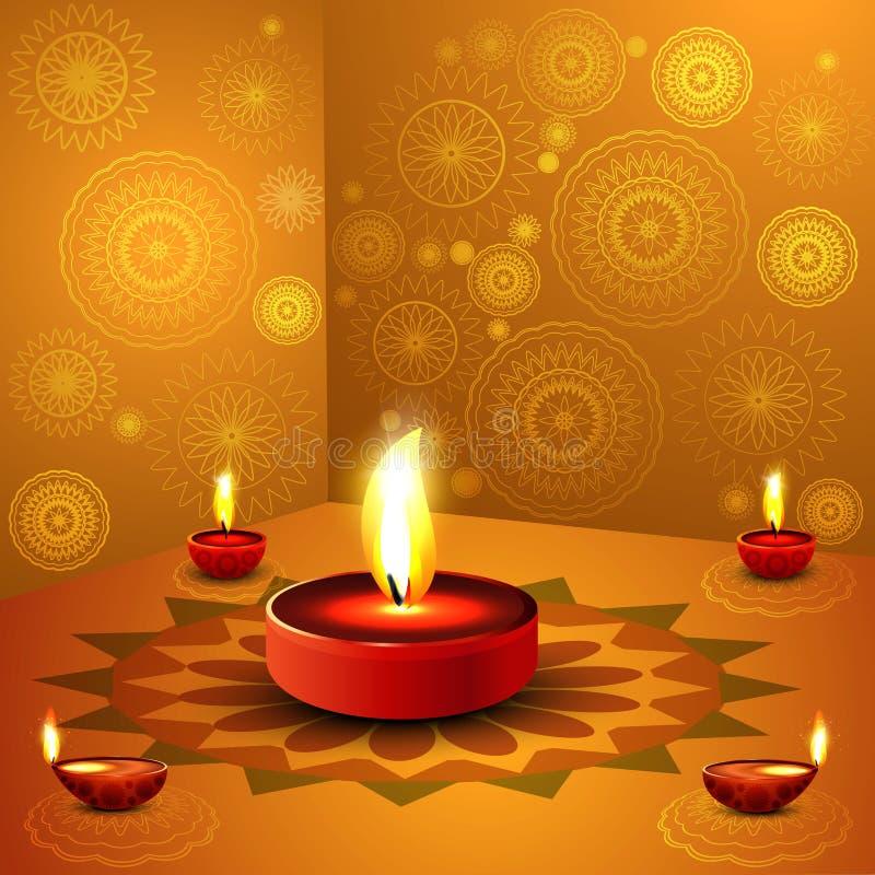 Download Beautiful Illustration For Happy Deepavali Design Stock Vector