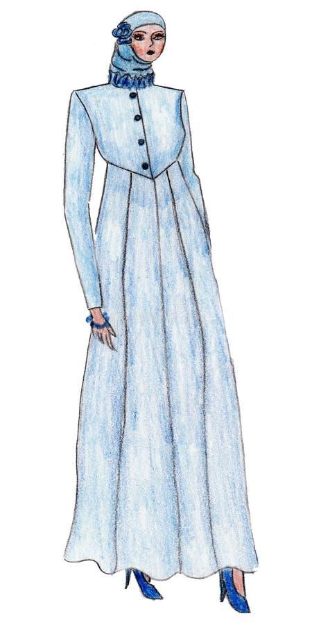 Download Beautiful Illustration Of Moslem's Fashion Stock Illustration - Image: 13491137