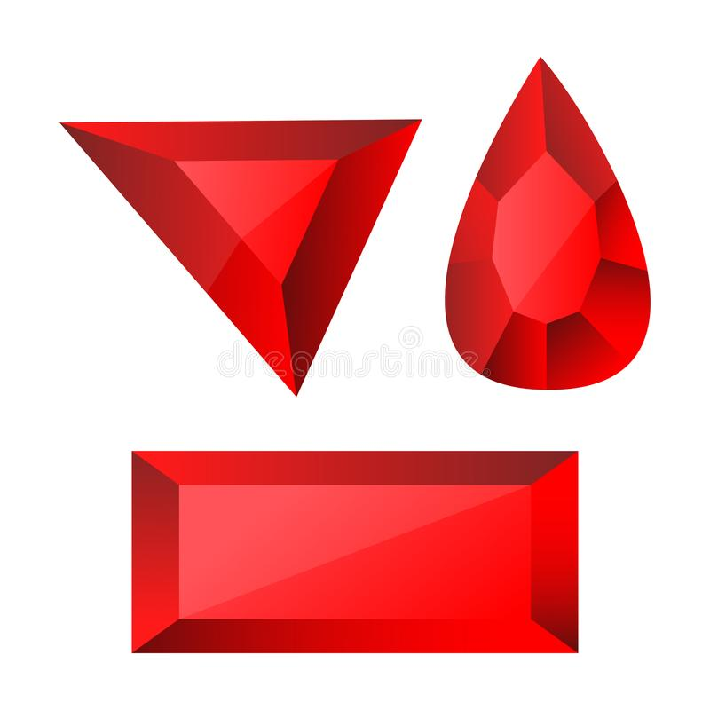 A beautiful illustration of ruby design. That can be used in different ways vector illustration