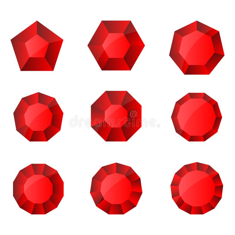 A beautiful illustration of ruby design. That can be used in different ways stock illustration