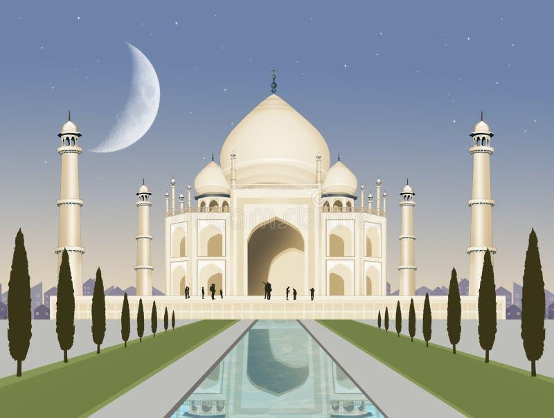 Illustration of the Taj Mahal stock illustration