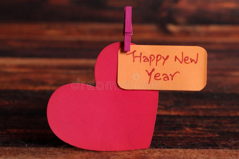 Happy new year. Beautiful image of board written happy new year on it royalty free stock photos