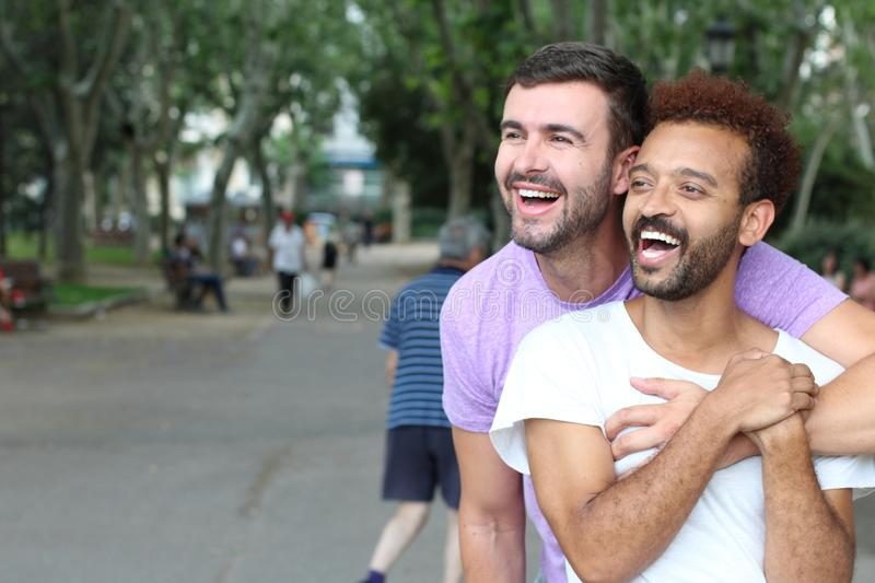 Beautiful image of gay couple royalty free stock photography