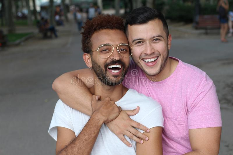 Beautiful image of gay couple royalty free stock images