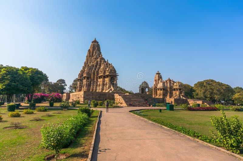 Beautiful image of Kandariya Mahadeva temple, Khajuraho, Madhyapradesh, India royalty free stock photos