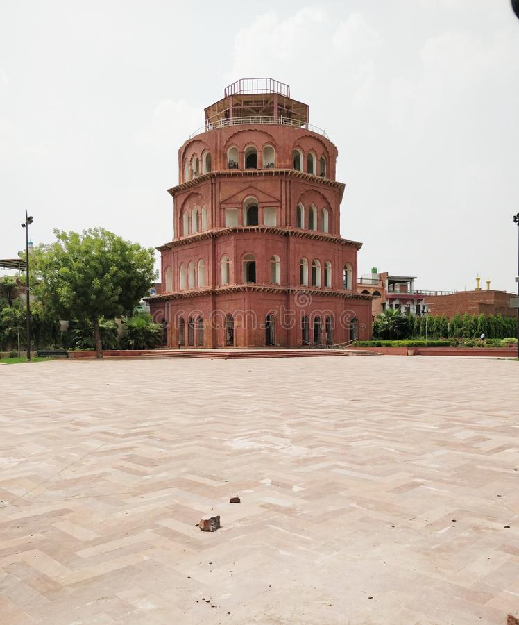 Satkhanda historical landmark in Lucknow India. Beautiful image of satkhanda a historical landmark in Lucknow India. It is seven storys watchtower made up of red stock images