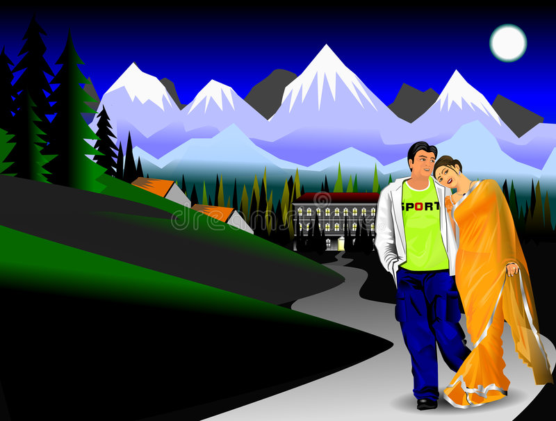Beautiful Indian couple vector illustration