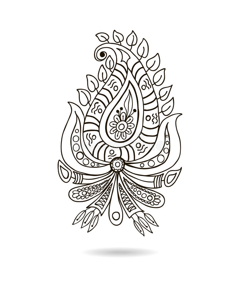 Spur Art Design Your Line : Beautiful indian floral ornament for your business stock