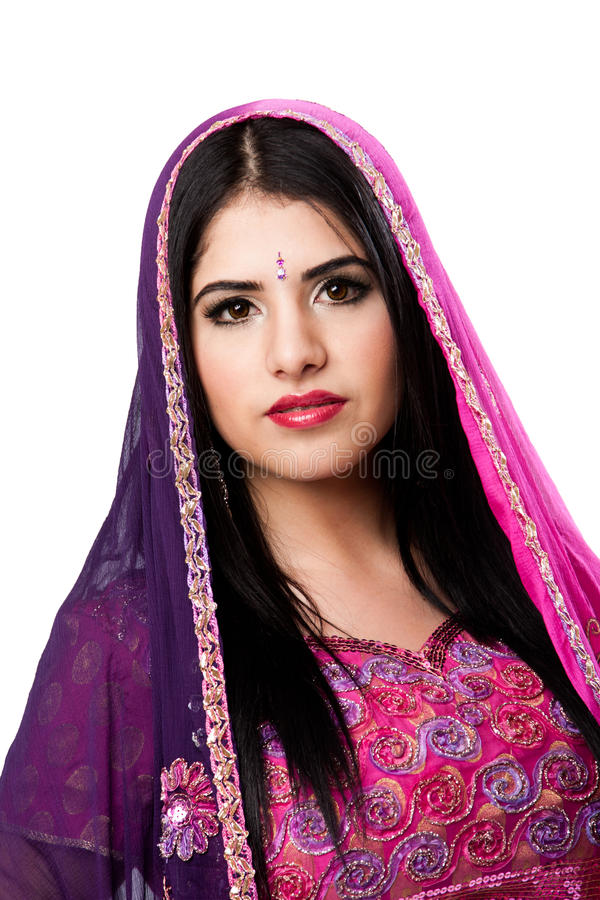 Beautiful Indian Hindu woman royalty free stock photo